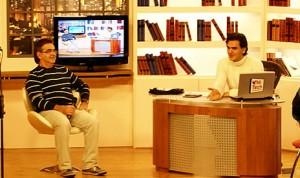 Eraldo Mattos e Gabriel Chalita, no programa Papo Aberto