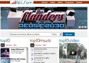 The Flanders faz promoção em site de música