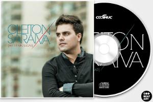 Arte do CD do cantor Cleiton Saraiva